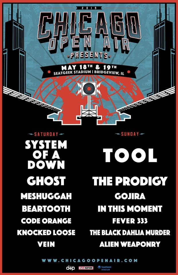 Tool, System Of A Down & more announced for Chicago Open Air 2019