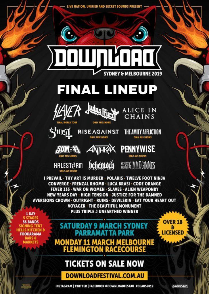 Download Festival Australia 2019 Set Times Revealed The Rockpit