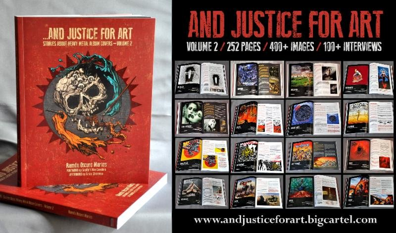 And Justice For Art Metal Album Covers Book Now Available The Rockpit