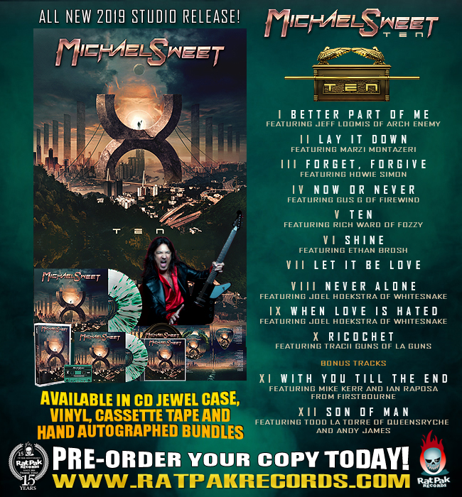 Rat Pak Records to release Michael Sweet 'Ten' – The Rockpit