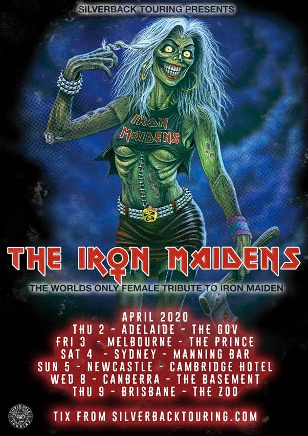 Iron Maiden Tour 2020.The Iron Maidens Announce 2020 Australian Tour The Rockpit