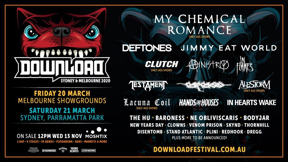 Best Metal Albums Of 2020.Download Festival Australia 2020 First Lineup Announced