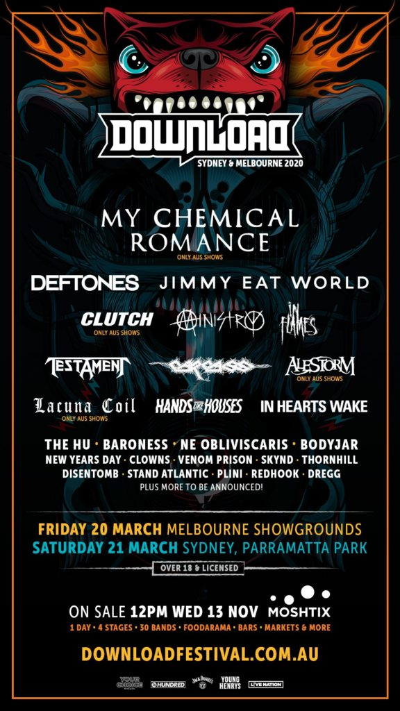 Download Festival Australia 2020 First Lineup Announced The Rockpit
