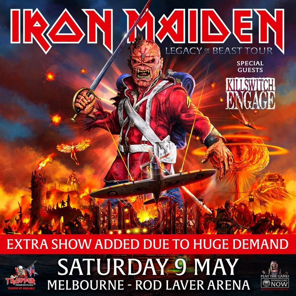 Iron Maiden Tour 2020.Iron Maiden Add Second Melbourne Show To Australia Tour