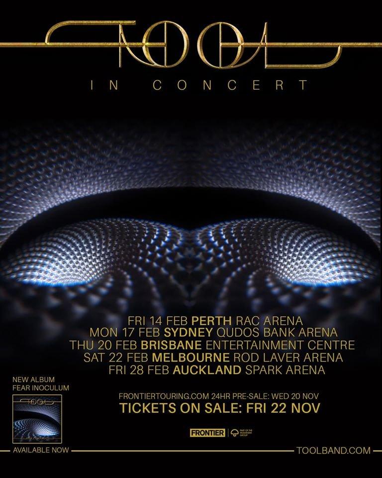 Tool Tour Dates 2020.Tool Announce Australia Tour Dates 2020 The Rockpit