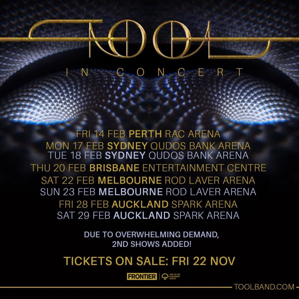 Tool Tour Dates 2020.Tool Adds More Shows To Australia Tour The Rockpit