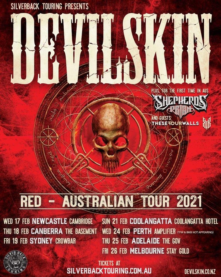 Devilskin Australia tour 2021