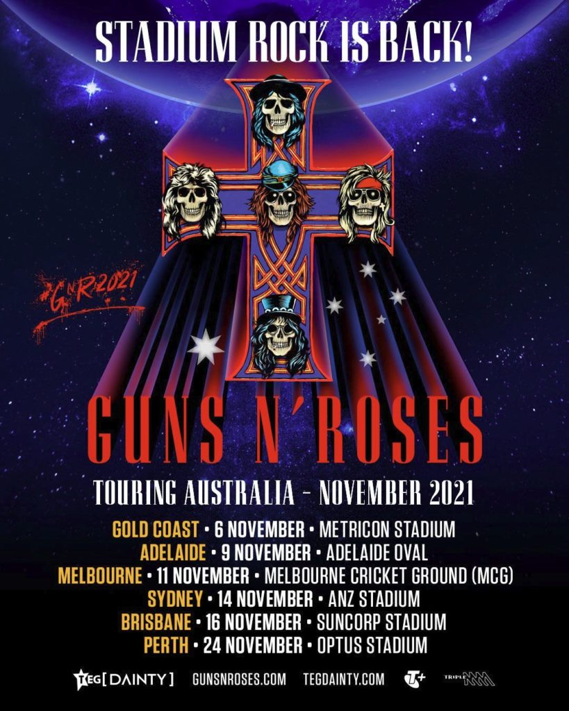 Guns N' Roses Australia tour 2021
