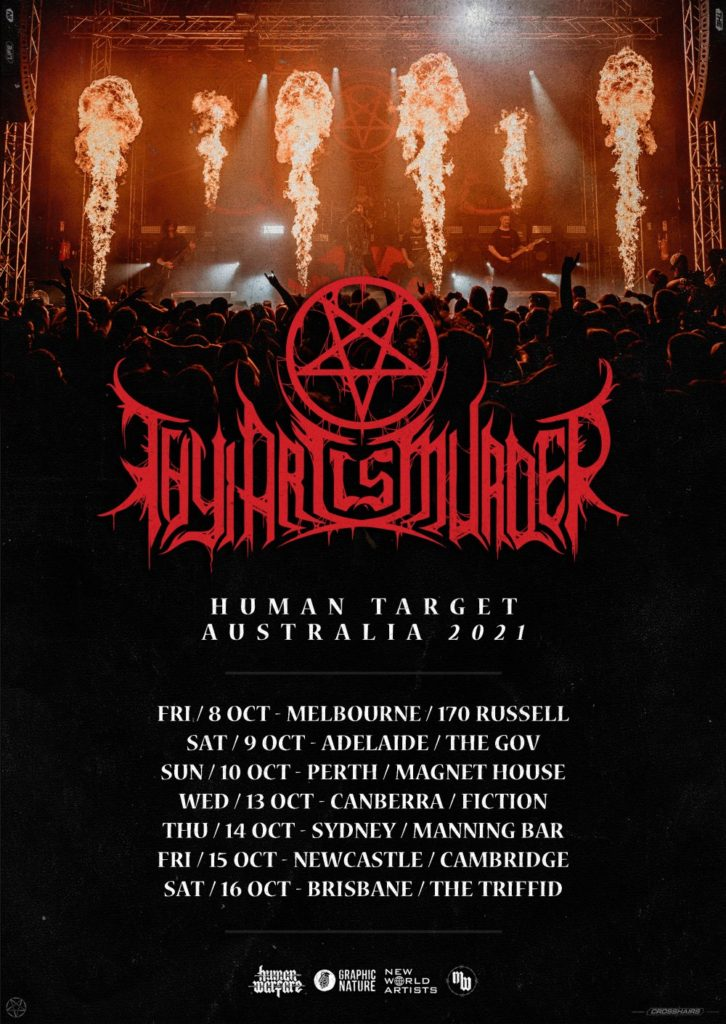Thy Art Is Murder Australia tour 2021