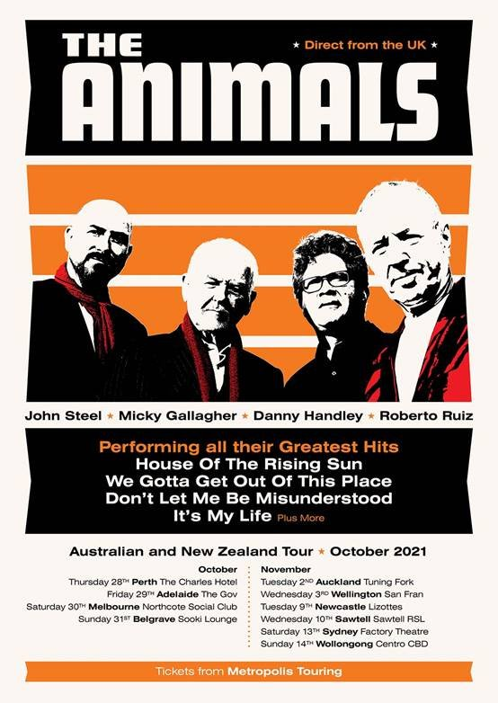The Animals Australia & New Zealand tour 2021