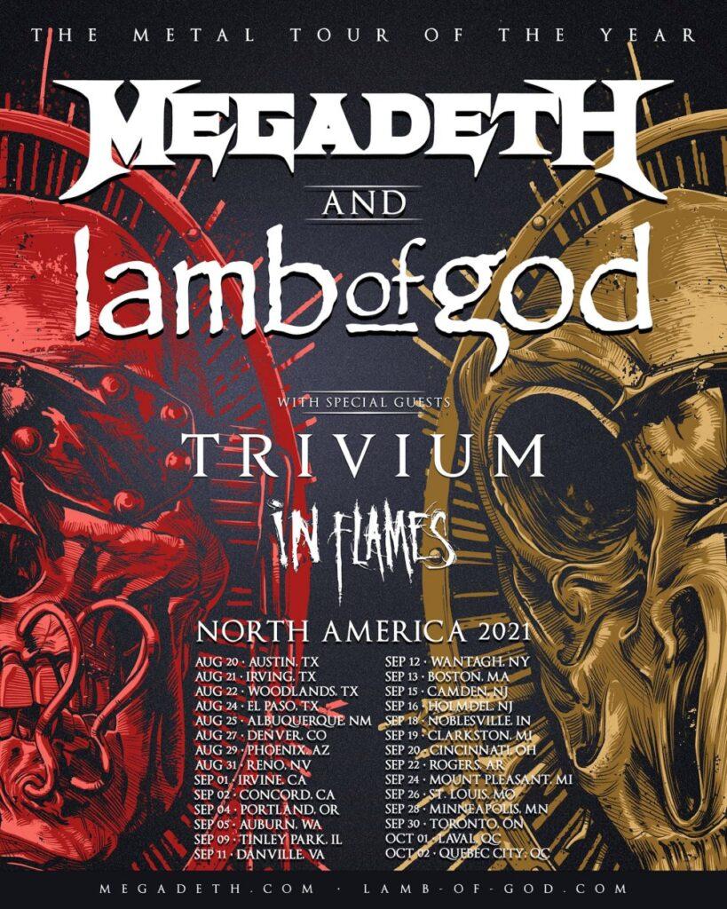 Megadeth / Lamb Of God North American tour 2021