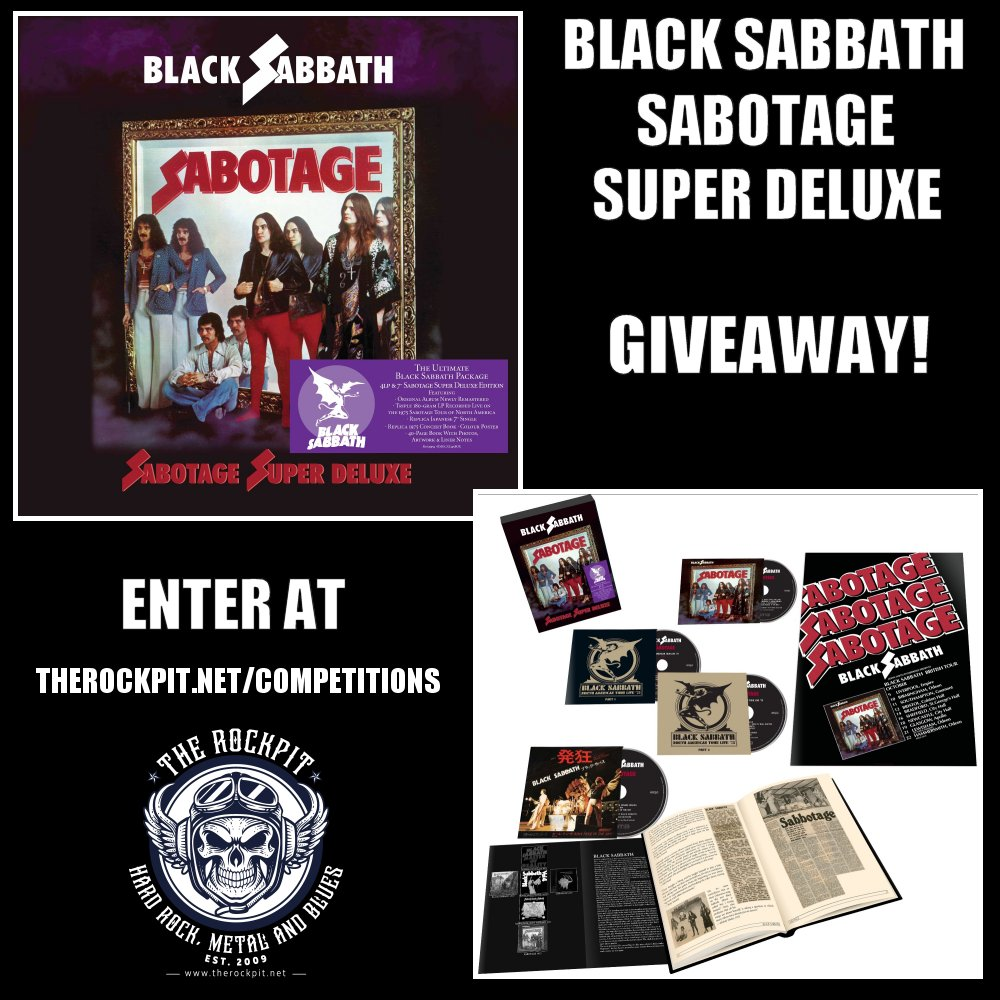 Black Sabbath - Sabotage Super Deluxe Box Set Giveaway