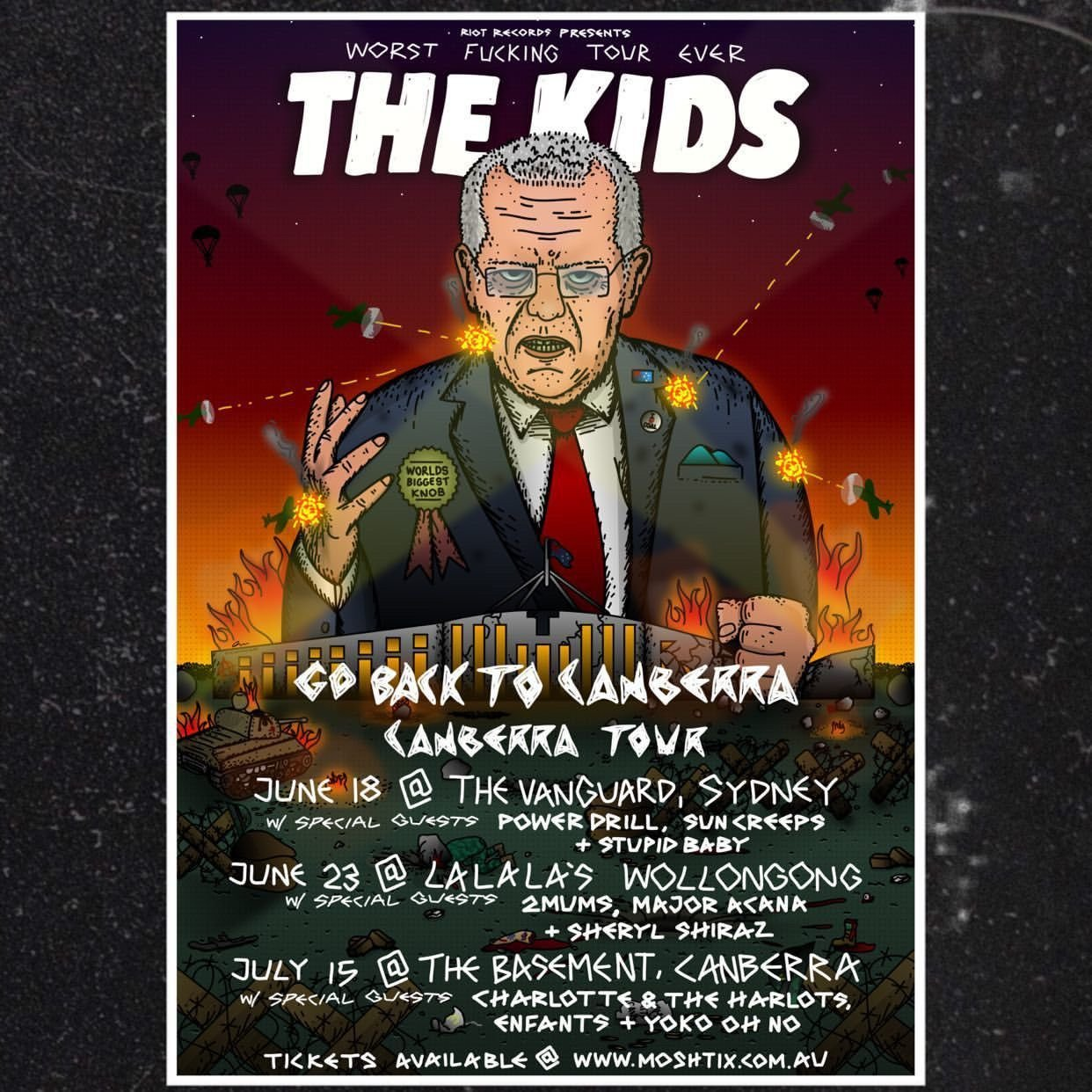 The Kids Go Back To Canberra Tour