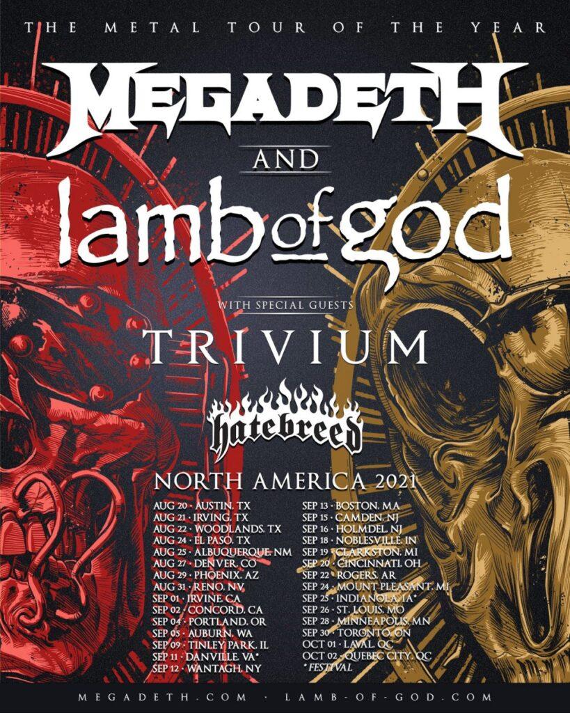 Megadeth Lamb Of God Metal Tour Of The Year
